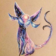 "Estefani Barbosa- ""Espeon ✨ #drawing #espeon #prismacolor #coloredpencil…"