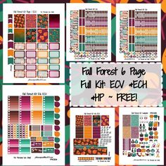 FREE Fall Forest KIT!   Free Printable Planner Stickers