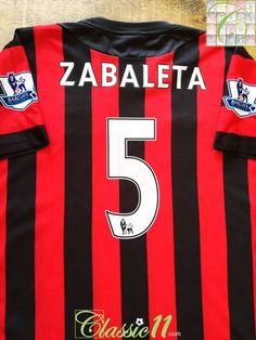 9753514b6 2011 12 Man City Away Premier League Football Shirt Zabaleta  5 (L)