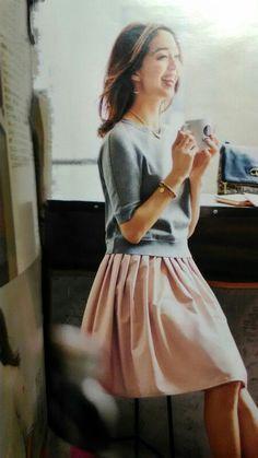 淡ピンクスカート