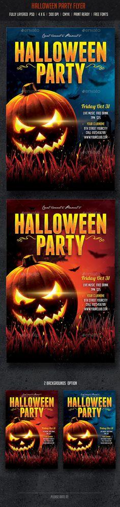 Halloween Party Flyer Template PSD #design Download: http://graphicriver.net/item/halloween-party-flyer/8960657?ref=ksioks