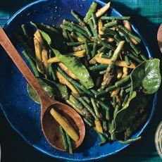 Stir-Fried Asparagus and Snake Beans with Chile Jam and Kaffir Lime
