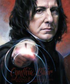 Professor Snape, Defense Against the Dark Arts by Cynthia Blair