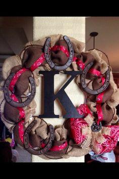 Cute monogrammed wreath
