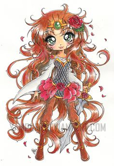 Saja - Rose Thorn Princess ::Watercolor:: by YamPuff.deviantart.com on @DeviantArt