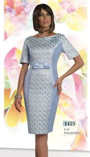 Fashions By Kim-Style : CH1425-B Sizes : 8 10 12 14 16 18  Colors : Powder Blue ( 1pc Designer Chancelle Dress ) Regular Price : $201 Our Price : $151