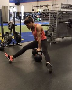"""8,393 Likes, 171 Comments - Alexia Clark (@alexia_clark) on Instagram: """"Kettlebell Killa 1. 10 reps each side 2. 15 reps each side 3. 20 presses total 4. 15 reps each…"""""""