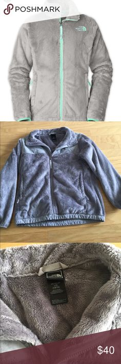 North Face gray fleece The North Face gray fleece, looks brand new. It is all gray, and was never put in the dryer to ensure it stayed soft. Always air dried. It is a girls 14/16 but I am a women's small and it fits me The North Face Jackets & Coats