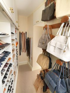 Walk in Closet with storage for Shoes and Handbags -\ Tim Wood Limited