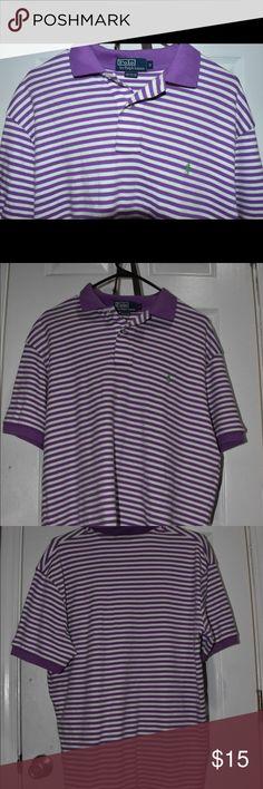 2b1254e1f Striped Ralph Lauren polo shirt Polo by Ralph Lauren purple and white  striped collar shirt made