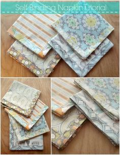 napkin tutorial with self binding edges | patchworkposse #holiday #napkin #diy