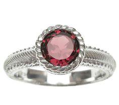 Judith Ripka Sterling 1.00cttw Rhodolite Soliatire Ring