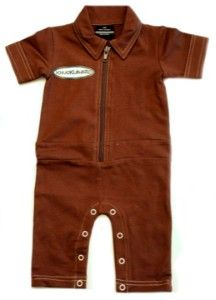 Knuckleheads infant grease monkey coveralls, brown  We think Knuckleheads is one of the best boy clothing lines on the market... Their line is so fashionable and practical... Just like the classic coveralls, but in a knit! Patch is screen printed on for comfort and legs have snaps for easy diaper changing. Matching cap also available to purchase separately.See less »     Buy it now at jenklairkids.com