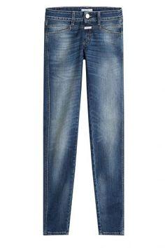 Closed Closed Skinny-Jeans Pedal Star – Blau