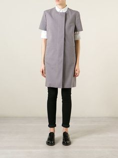 Victoria Beckham Denim Short Sleeve Coat - The Shop At Bluebird - Farfetch.com