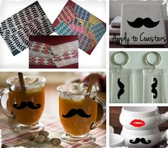 Mustaches & Hot Lips  - Set of 72!  2 For the Price of 1! 12 Colors at VeryJane.com #mustaches #awesome
