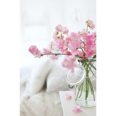 beach cottage decorating for Spring ❤ liked on Polyvore featuring backgrounds, pictures, flowers, photos, pics and filler