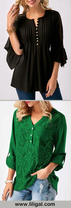 blouses, blouses for women, black blouses, green blouses, shirts, shirts for women, womens fashion, womens style