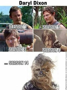 Then Walking Dead Memes #Daryl #Chewy #Thewalkingdead