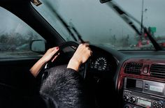 My Mother Drives Me in the Rain, 2000 by Elinor Carucci