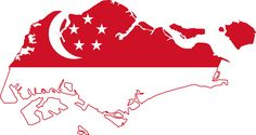 cool Singapore Map Flag Free Wallpapers Picture