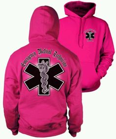 Since Mackenzie really wants to be an EMT - think this Pink EMT Hoodie would be cute - when a little older.