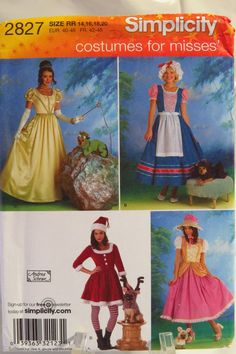 Simplicity 2827 Misses' and Dog Costumes