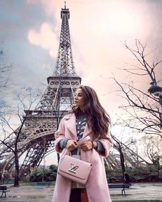 """19.7k Likes, 257 Comments - Tamara Kalinic (@tamara) on Instagram: """"It doesnt get more Parisian than this! Wearing my favourite @louisvuitton #LVTwist bag and having a…"""""""