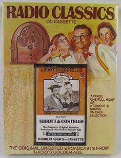 "Radio Classics On Cassette Abbott & Costello ""Who's On First?"""