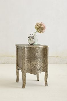 Hand-Embossed Nightstand. #Anthropologie #PinToWin