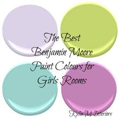 The Best Benjamin Moore Paint Colours for a Girls Room - Kylie M Interiors