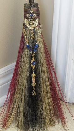 Isis Diety Besom Broom Altar Broom Protection by WayOfTheCauldron, $49.99