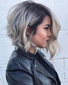 Asymmetrical Ash Blonde Lob