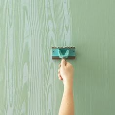 Thinking about doing Marthas wood grain effect to one of my bedroom walls...Love the look of wood grain!