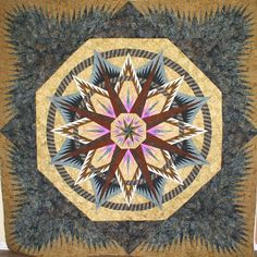 Mariner's Compass, Quiltworx.com, Made by CI Nancy Strath.