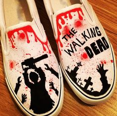 The Walking Dead Shoes Custom Shoes Custom by TheCustomUnderground