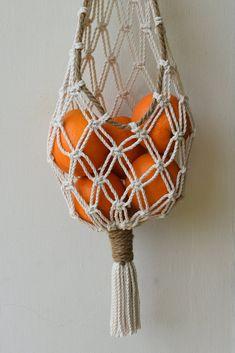 Macrame Art, Macrame Design, Macrame Projects, Macrame Knots, Fruit Storage, Vegetable Storage, Storage Basket, Paper Storage, Onion Storage