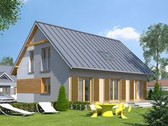 DOM.PL™ - Projekt domu MT Jesion CE - DOM ST9-76 - gotowy koszt budowy Shed, Outdoor Structures, Dom, Projects, Houses, Lean To Shed, Blue Prints, Coops, Homes