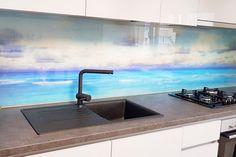 Placare cu sticla printata - Geamuri si oglinzi de la OpriCristal Santorini, Yorkie, Sink, Home Decor, Sink Tops, Yorkies, Vessel Sink, Decoration Home, Yorkshire Terrier