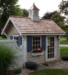 80 Incredible Backyard Storage Shed Makeover Design Ideas - HomeSpecially - Backyard sheds plans – easy shed plans. – easy shed plans. Backyard shed plans. Backyard Storage Sheds, Backyard Sheds, Outdoor Sheds, Cottage Garden Sheds, Garden Shed Diy, Diy Shed Plans, Storage Shed Plans, Diy Storage, Shed Makeover