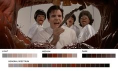 Frank Oz Week Little Shop of Horrors, 1986 Cinematography: Robert Paynter Movie Color Palette, Colour Pallette, Color Trends, Color Combos, Color Schemes, Movies In Color, Charlie Chocolate Factory, Frank Oz, Cinematic Photography