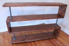 Industrial Wood Shelf TV Stand Bookcase Storage Rack by NativeDen
