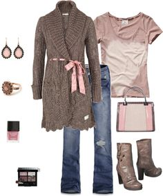 """Dusty Rose"" by tinyturtle73 on Polyvore"