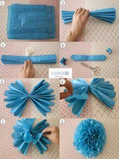 El Estudio de Bea (Blog): Cómo hacer un Pompón de papel vegetal