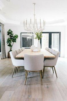Dinner Room, Dinner Table, Dining Room Inspiration, Dinning Room Ideas, Dining Room In Kitchen, Kitchen Chairs, Home Decor Kitchen, Dining Room Design, Chair Design