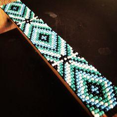 Custom blue and Turquoise diamond bracelet!