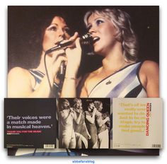 This picture shows two Abba greeting cards from my collection... #Abba #Agnetha #Frida http://abbafansblog.blogspot.co.uk/2017/03/abba-cards.html
