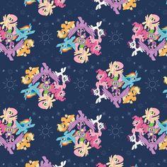 My Little Pony Group Navy - Cotton