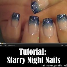Starry Night Nails...I love these!!