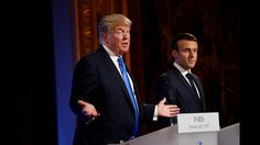 President Trump and French President Macron hold joint news conference